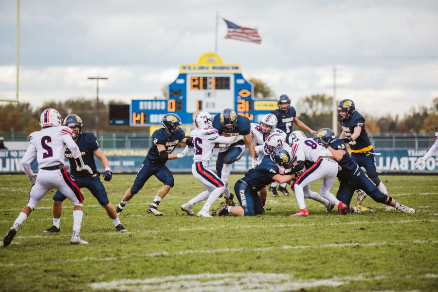 The+Neuqua+Valley+varsity+football+team+played+their+first+playoff+round+versus+Conant.+Neuqua+Valley+wins+with+the+score+of+44-6.%0A%0A